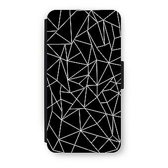 Huawei P8 Lite (2015-2016) Flip Case - Geometric lines white