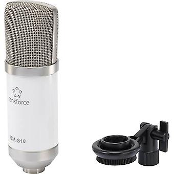 Studio microphone Renkforce BM-810 W Transfer type:Corded incl.
