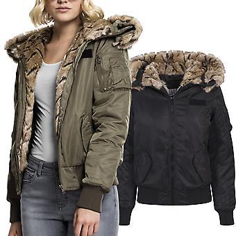 Urban classics ladies - faux-fur bomber winter jacket