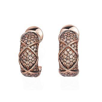 Joop women's hoop earrings silver Rosé cubic zirconia mosaics JPER90306C000