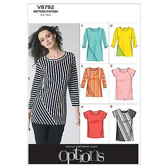 Misses' Top-A5 (6-8-10-12-14) -*SEWING PATTERN*