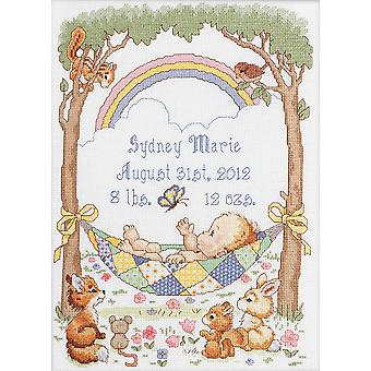 Our Little Blessing Birth Record Counted Cross Stitch Kit-10