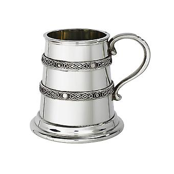Celtic Banded Pewter Tankard - � pint