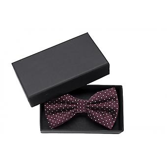 Fly loop polka Dots Fabio Farini points red white dotted bow tie