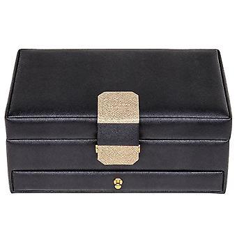 Sacher jewelry case jewelry box SAFFIANO black Castle mirror
