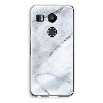 LG Nexus 5X Transparent Case - Marble white