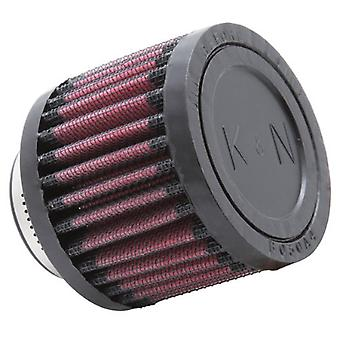 K&N RU-2310 Universal Clamp-On Air Filter: Round Straight; 1.563 in (40 mm) Flange ID; 2.5 in (64 mm) Height; 3 in (76 m