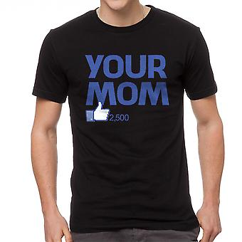 Humor Your Mom Men's Black T-shirt