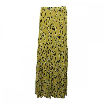 Isabel De Pedro Long Flare Panel Printed Jersey Skirt