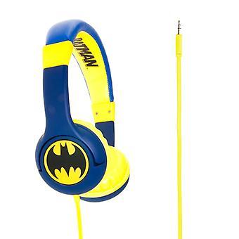 BATMAN Junior in-Ear-koptelefoon blauwe/gele Batman