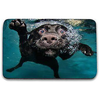 i-Tronixs - Underwater Dog Printed Design Non-Slip Rectangular Mouse Mat for Office / Home / Gaming - 7