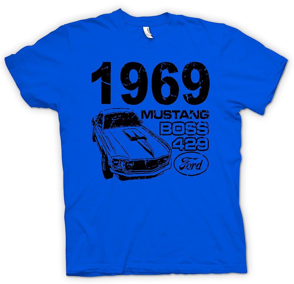Mens T-shirt - 1969 Mustang Boss 429 - Classic US Car