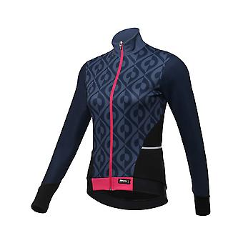 b8e45a9cd Sale Santini Purple 2018 Fashion Coral Womens Long Sleeved Cycling Jersey