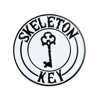 Skeleton Key Black-White SKMFG Badge