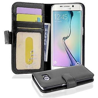 Cadorabo Hülle für Samsung Galaxy S6 EDGE - Handyhülle mit 3 Kartenfächern - Case Cover Schutzhülle Etui Tasche Book Klapp Style