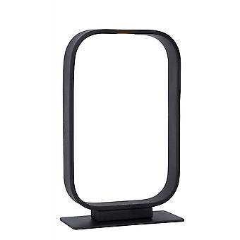Lucide Mika Modern Rectangle Steel Black Table Lamp