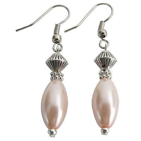 Unbeatable Price Bohemian Earrings Pink Oval Pearl Fabulous Earrings