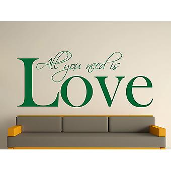 Alles wat je nodig Wall Art Sticker - Racing Green