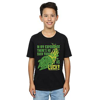 Star Wars Boys Millennium Falcon Shamrock Luck T-Shirt