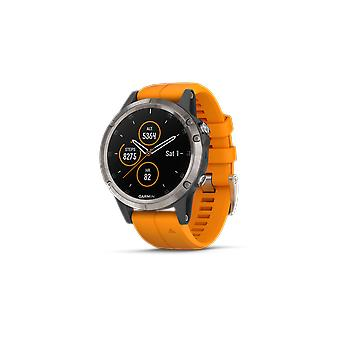 Garmin Fenix 5 Plus Solar Flare Orange Mens Smartwatch 010-01988-05 42mm