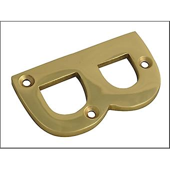 Forge Letter B - Brass Finish 75mm (3in)