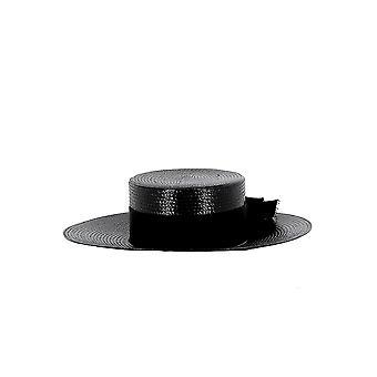 Saint Laurent Black Canvas Hat