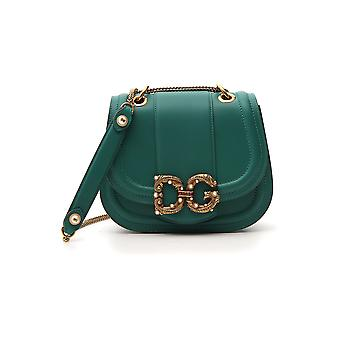 Dolce E Gabbana Dg Amore Green Leather Shoulder Bag