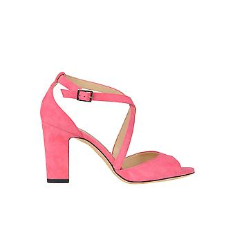 Jimmy Choo Carrie Pink Suede Sandals