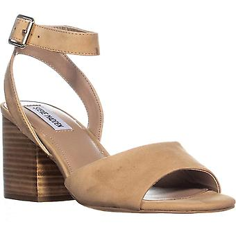 c57a66163a4 Steve Madden Womens Devlin Leather Peep Toe Casual Ankle Strap Sandals