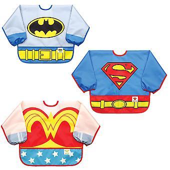 Wytyków DC Comics rękaw Bib / Baby Bib / Toddler Bib / kitel, wodoodporny, zmywalne, plamy i odporny zapach, 6-24mths