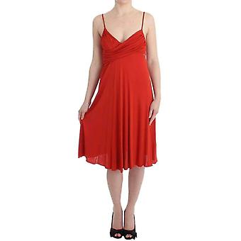 Galliano Red A-Line Coctail Dress -- SIG1623493
