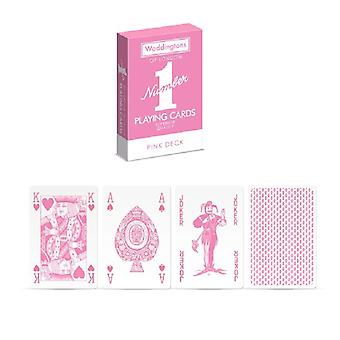 Waddington's Number 1 Classic playing cards high quality PINK Edition