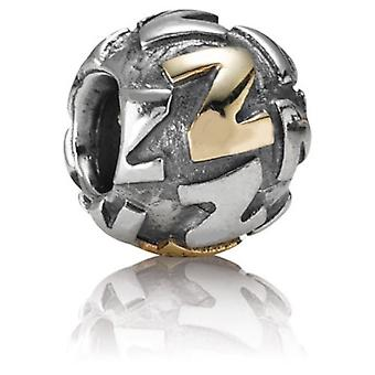 Sterling silver charm & gold plated letter Z