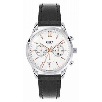 Henry London Unisex Highgate Black Leather White Dial HL39-CS-0009 Watch