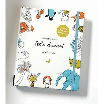 Illustration School Lets Draw Includes Book and Sketch P by Sachiko Umoto
