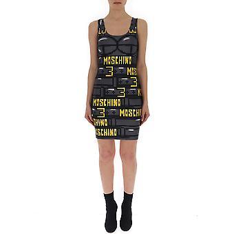 Moschino Vestido de nylon negro
