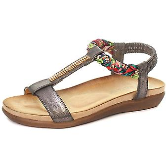 Cipriata Gemma Jewelled Womens Halter Back Sandals  AND COLOURS