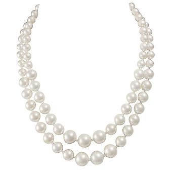 Eternal Collection Cavendish Two Strand Graduated South Sea Shell Pearl Necklace