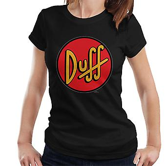 The Simpsons Duff Logo Women's T-Shirt