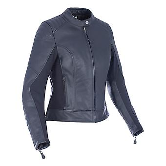 Oxford Black Beckley Womens Motorcycle Leather Jacket