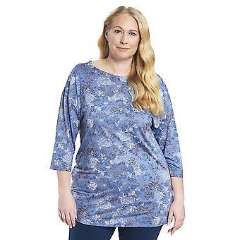 Rosch 1194536-11999 Women's Curve Smokey Blue Pyjama Top