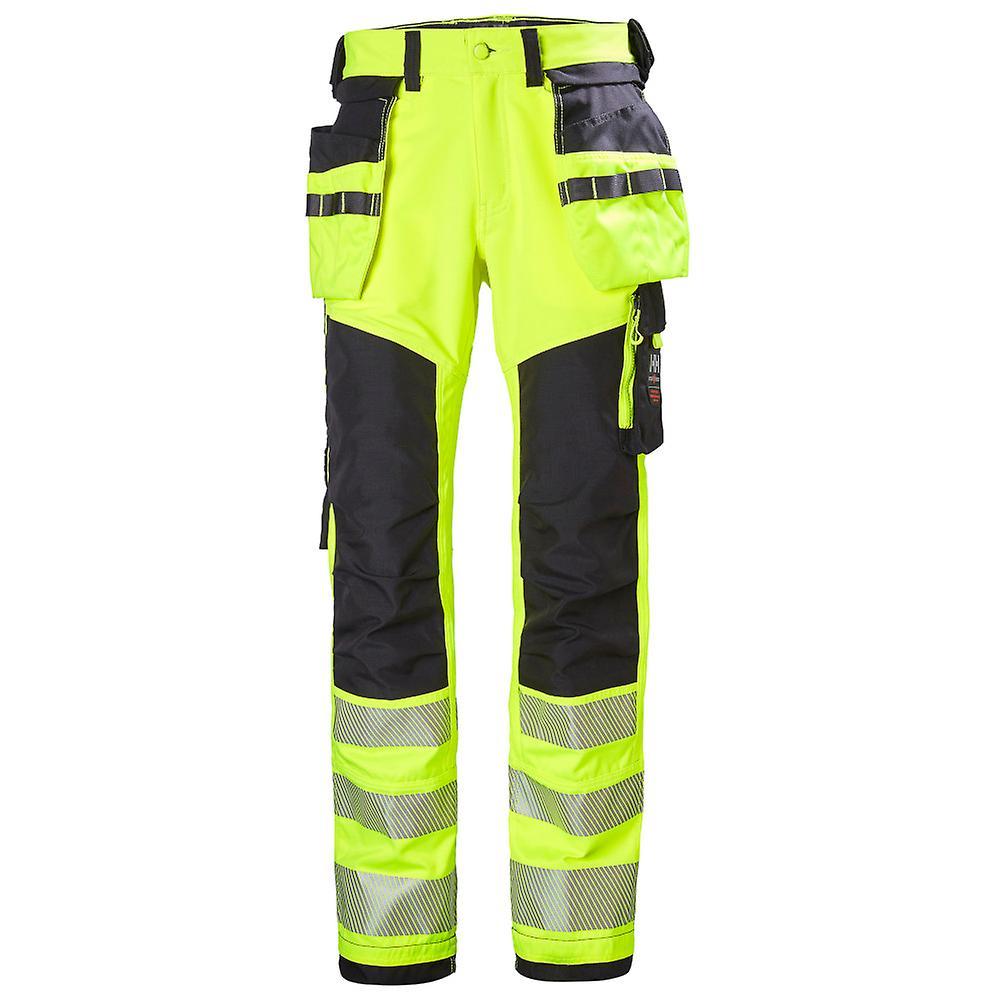 Helly Hansen Mens Icu Construction Hi Vis Work Trousers