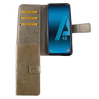 Samsung Galaxy A40 Phone Case Protective Case Cover Flip Case Card Tray Grey
