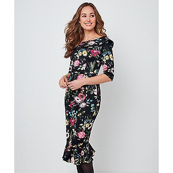 Joe Browns Womens blommig utanför axeln fishtail klänning