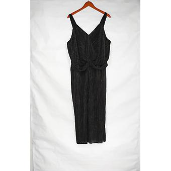 Lisa Rinna Collection Jumpsuits Twist Front Black A308838