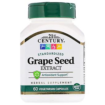 21st century grape seed extract, veggie capsules, 60 ea