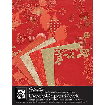 Deco Paper Pack By Black Ink Papers-Chinaberry Red DP-704