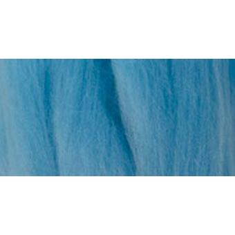Natural Wool Roving 0.3 Ounce Light Blue 79R 39