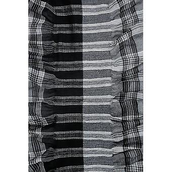 Zwarte & wit controleren elastische Ruffle sjaal
