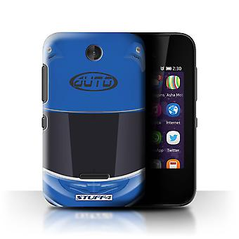 STUFF4 Case/Cover for Nokia Asha 230/Superbike/Blue/Motorcycle Helmet